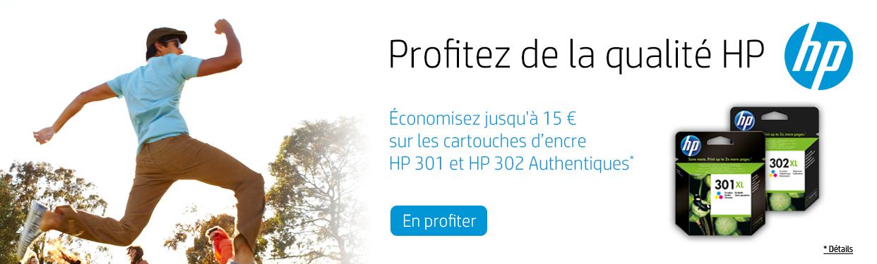 Achetez HP 301 et 302 authentiques