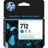 Encre HP Cyan N° 712 - 29 ml Pour DesignJet Studio, T210, T230, T250, T630 - 3ED67A