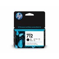 Encre HP Noire N° 712 - 38 ml Pour DesignJet Studio, T210, T230, T250, T630 - 3ED70A