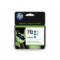 Pack de 3 Encres HP Cyan N° 712 Pour DesignJet Studio, T210, T230, T250, T630 - 3ED77A
