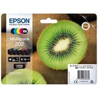 Pack 5 Encres Epson Noire & Couleur - Série Kiwi