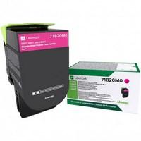 Toner Lexmark Magenta 71B20M0 pour CS317dn / CS417dn / CX317dn / CX417de - 71B20M0