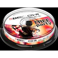 CD-R Emtec - 80 min - 700 Mb - 52x - Spindle de 10 Redevance Incluse - ECOC801052CB