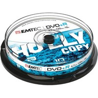 DVD+R Emtec 4.7Gb - 16x - Pack de 10 Boitier Slim Redevance Incluse - ECOVPR471016SL
