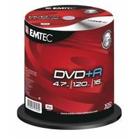 DVD+R Emtec - 4,7 GB - 16x - Spindle de 100 Redevance incluse - EKOVPR4710016CB