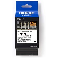 HSE241 BROTHER 17.7MM BLK ON WHT HEAT SHRINK TPE  - HSE241
