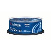 SPINDLE DE 25 DVD+R VERBATIM 4.7GB - 8X REDEVANCE INCLUSE - 43481