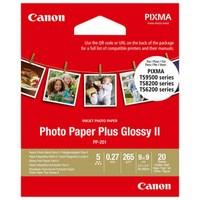 Canon Photo Paper Plus Glossy II PP-201 - Haute-brillance - 270 microns - 89 x 89 mm - 265 - 2311B070