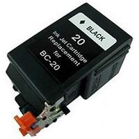 Encre Canon Noire + Tete BJC2000/4000/ 4100/4300/4400/5500/FAX B210C/215C 900p. - BC20